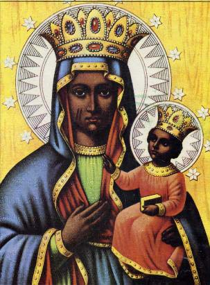 Black Mary holding Jesus