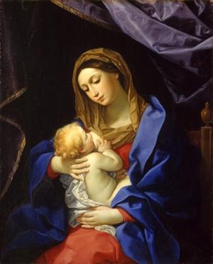 White Mary Holding Jesus